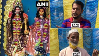 Durga Puja Celebrated by Hindus and Muslims in Agartala Slum, Committee Has Muslims as President and Members