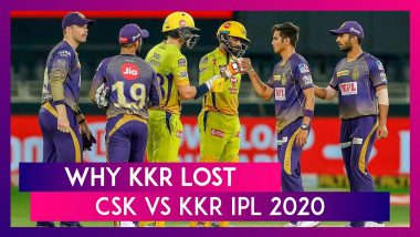 Chennai vs Kolkata IPL 2020: 3 Reasons Why Kolkata Lost To Chennai