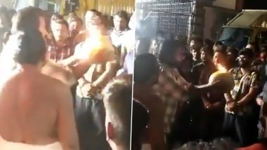 Tughlaq Durbar Actor Vijay Sethupathi Celebrates Vijayadashami With The Team! (Watch Video)