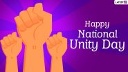 National Unity Day 2020 Wishes and HD Images: WhatsApp Stickers, Rashtriya Ekta Diwas Messages and Facebook Greetings to Honour Sardar Vallabhbhai Patel on His Birth Anniversary