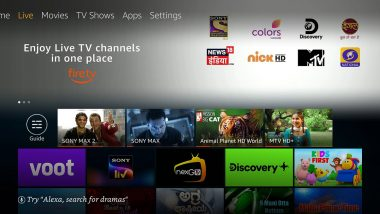 Amazon 'Live TV' Feature Launched in India for Fire TV Devices