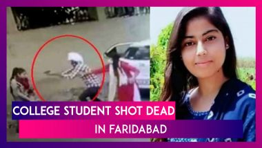 Nikita Tomar Murder Case: 21-Year-Old Student Shot Dead Outside Faridabad College; Accused Arrested, Confesses To Crime Before Police; Watch Video Of The Horrific Incident