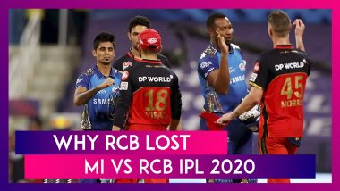 Mumbai vs Bangalore IPL 2020: 3 Reasons Why Bangalore Lost To Mumbai