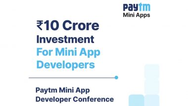 Paytm Announces Rs 10 Crore Fund for Mini App Developers in India