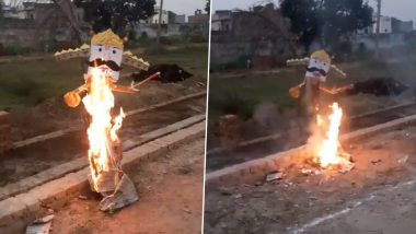 Ravan Dahan 2020 Pics and Videos on Twitter Display How Devotees Are Celebrating Dussehra Amid the Pandemic