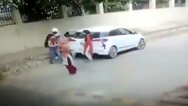 21-Year-Old Woman Shot Dead Outside Faridabad College, Watch Video of the Horrific Incident
