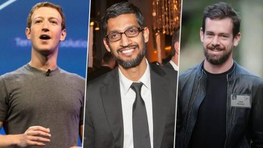 Facebook CEO Mark Zuckerberg, Alphabet and Google CEO Sundar Pichai and Twitter CEO Jack Dorsey Set to Be Grilled by US Panel