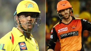 Chennai Super Kings vs Sunrisers Hyderabad, IPL 2020 Toss Report and Playing XI Update: Ambati Rayudu, Dwayne Bravo Come in For CSK As David Warner Elects to Bat First