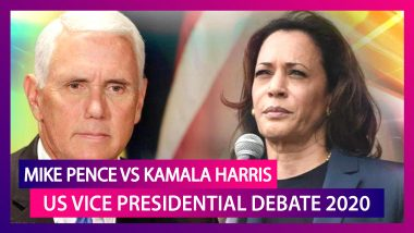 Mike Pence vs Kamala Harris At US Vice-Presidential Debate 2020; 'If Trump Tells Us To Take It, I'm Not Taking It' Says Harris On COVID-19 Vaccine; Highlights