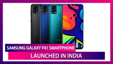 Samsung Galaxy F41 Smartphone Launched In India; Check Prices, Features & Other Details