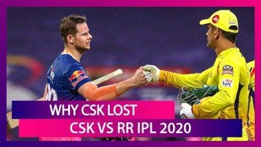 Chennai vs Rajasthan IPL 2020: 3 Reasons Why Chennai Lost To Rajasthan