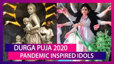 Durga Puja 2020 Idols: 'Migrant' Idol To Maa Durga Slaying The COVID-19 Virus; Here Are Some Pandemic Inspired Innovative Creations