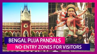 Durga Puja 2020: West Bengal Puja Pandals No-Entry Zones For Visitors, Only Organisers To Be Allowed, Rules Calcutta High Court