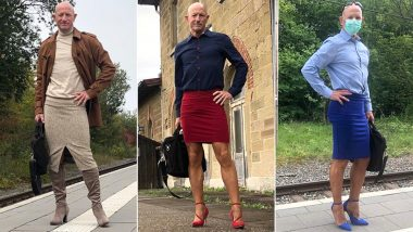 Instagram Influencer Mark Bryan Wears Heels and Pencil Skirts to Work Because 'He Can', His Gender-Bending Fashion Is a Hit on Social Media (View Pics)