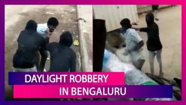 Bengaluru: Video Of Daylight Robbery By Two Men At Knifepoint Goes Viral; Security Beefed Up Near Chickpet Metro Station