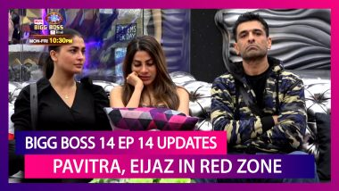 Bigg Boss 14 Episode 14 Updates|Oct 21 2020: Pavitra, Eijaz In Red Zone