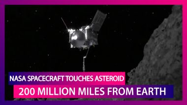 NASA Spacecraft Touches Down On Asteroid Bennu 200 Million Miles From Earth; Grabs Sample Rock