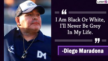 Diego Maradona Quotes With HD Images: 10 Powerful Sayings by the Argentine Football Great on Success and Life to Celebrate His 60th Birthday