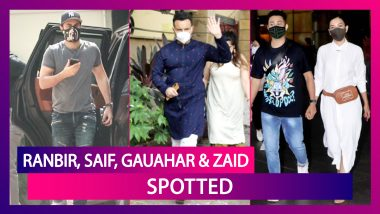 Ranbir Kapoor Snapped At YRF Studios Wearing A Quirky Mask; Saif Ali Khan Nails The Kurta Pyjama Look; Gauahar Khan, Zaid Darbar, Anil Kapoor & Yami Gautam Spotted