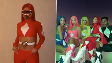 Kylie Jenner Halloween 2020 Costume, a Red Power Ranger Is LIT AF! Watch Video of the Beauty Mogul and Her Squad Have an Exciting Night Out in Superhero Outfits