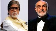 Amitabh Bachchan Pays A Mathematical Tribute to Late Sean Connery, Says 'He Gave Life to 007' (View Tweet)