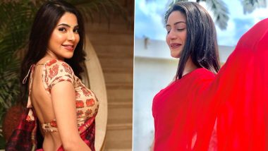Navratri 2020 Day 4 Colour Red: Nikki Tamboli Or Surbhi Chandna- Which Saree Look Is Your Personal Style Statement?
