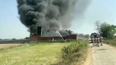 Meerut Fire: Blaze Erupts at Chemical Factory in Kharkhada, 6 Fire Tenders on Spot