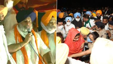 Harsimrat Kaur, Sukhbir Singh Badal Detained in Punjab Over Protest Against Farm Laws