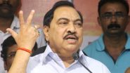 Eknath Khadse Resigns From BJP, to Join NCP on October 23