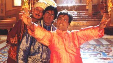 Bade Miyan Chote Miyan Clocks 22 Years: Anupam Kher Reminisces Amitabh Bachchan, Govinda's Classic Comedy, Shares a Goofy Pic From the Film