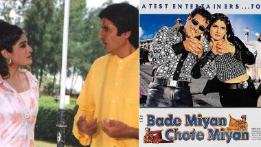 Bade Miyan Chote Miyan Completes 22 Years: Raveena Tandon Shares Her Favourite Memory From the Shoot of Amitabh Bachchan, Govinda's Classic Comedy