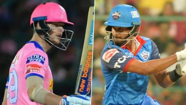 Rajasthan Royals vs Delhi Capitals, IPL 2020 Toss Report and Playing XI Update: Andrew Tye Comes in For RR As Steve Smith Opts to Bowl First