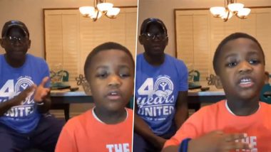 That's How You Should ABC! 6-YO Robert Samuel White Raps 'You Can Be ABCs' of Careers With His Father & People Are Loving It (Watch Video)