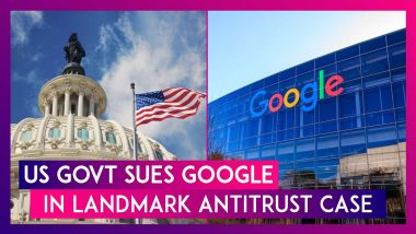 US Government Sues Google Over Search Engine Dominance In Landmark Antitrust Case Against Tech Giant