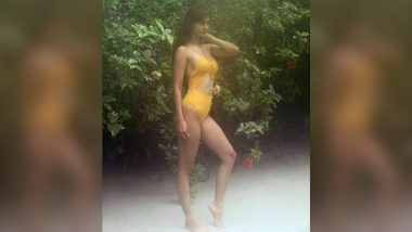 Disha Patani Looks Super Hot In a Yellow Ochre Cutout Monokini! (View Pic)
