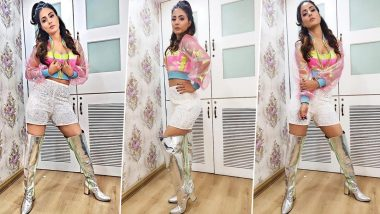 Bigg Boss 14: Hina Khan Slips Into her Retro Mode for the Premiere Night Episode (View Pics)