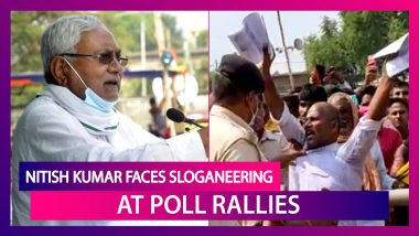 Bihar Elections 2020: Incumbent Nitish Kumar Faces 'Murdabad', 'Nitish Chor Hai' Sloganeering At Poll Rallies