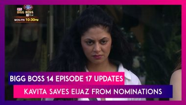 Bigg Boss 14 Episode 17 Updates | 26 Oct 2020: Kavita Kaushik Saves Eijaz Khan from Nominations