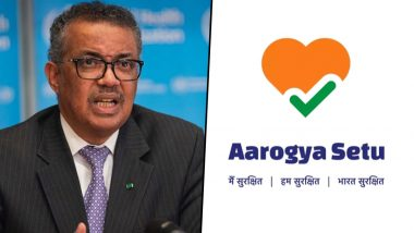Aarogya Setu App of India Gets Praise From WHO For Helping Health Departments in Identifying COVID-19 Clusters