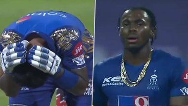 Hardik Pandya Survives Jofra Archer's Beamer But Suryakumar Yadav Hit With Bouncer During MI vs RR IPL 2020 Clash (Watch Video)