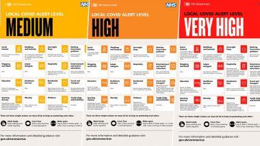 Three-Level COVID-19 Alert: UK PM Boris Johnson Unveils Coronavirus Alert System in England