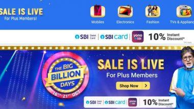 Flipkart Big Billion Days Sale 2020: LIVE Deals & Offers on Smartphones, Gadgets, Electronics & More