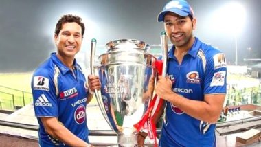 Mumbai Indians Share Rohit Sharma & Sachin Tendulkar's Throwback Photo With CLT20 2013 Trophy Ahead of MI vs RR, IPL 2020 (View Post)