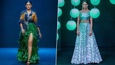 Lakme Fashion Week 2020: Mrunal Thakur Graces the Season's Finale, Stuns in Saaksha & Kinni and Rimzim Dadu Outfits (View Pics)