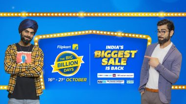 Flipkart Big Billion Days Sale 2020: E-Commerce Giant Offers Early Access to Buyers for Pre-Booking Products at Re 1 Ahead of Its Sale