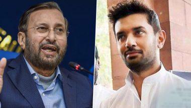 Bihar Assembly Elections 2020: Prakash Javadekar Refutes Chirag Paswan's Claim of BJP Helping LJP in State, Calls LJP a 'Vote Cutter Party'