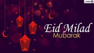 Eid-E-milad Un-nabi 2020 Messages and HD Images: Wish Eid Mubarak With WhatsApp Stickers, Facebook Greetings, SMS and GIFs to Commemorate the Birth Anniversary of Prophet Muhammad