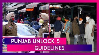 Punjab Unlock 5 Guidelines: CM Amarinder Singh Orders More Relaxations, Lifts Night Curfew, Sunday Lockdown As Coronavirus Cases Decline