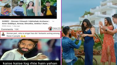 Amir Siddiqui's New Music Video 'SORRY' Is an Extended Version of Cringe TikTok Videos EXCEPT in HD! Funny Memes and Jokes With a CarryMinati Tadka Go Viral
