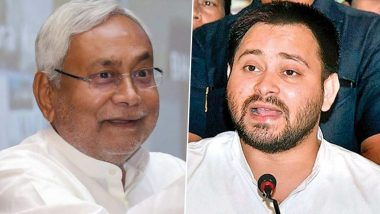 Bihar Assembly Elections 2020: Nitish Kumar Takes Dig at Tejashwi Yadav's Employment Promise, Says 'They May Start Own Business in Name of Giving Jobs'